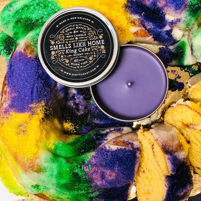 King Cake Candle - Dirty Coast Press