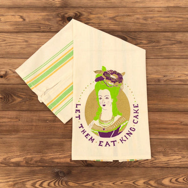 Let Them Eat King Cake Tea Towel - Dirty Coast Press