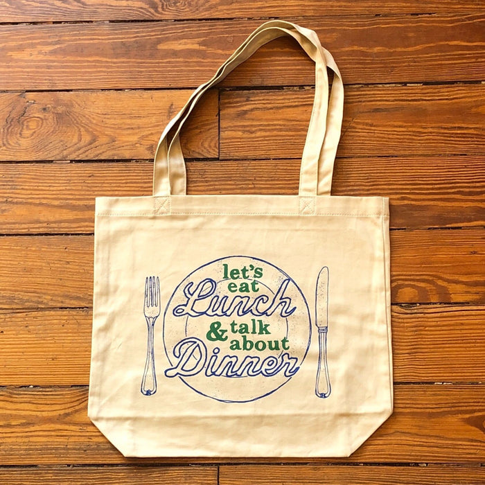 Let's Eat Lunch Tote - Dirty Coast Press