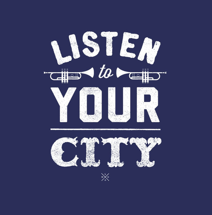 Listen To Your City Hoodie - Dirty Coast Press