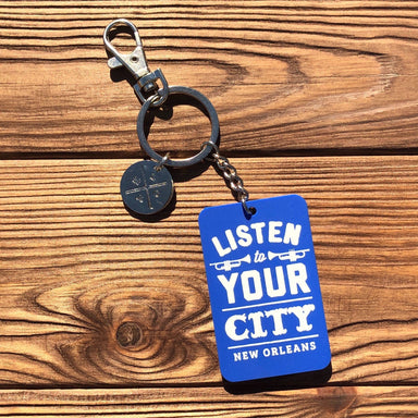 Listen To Your City Keychain - Dirty Coast Press