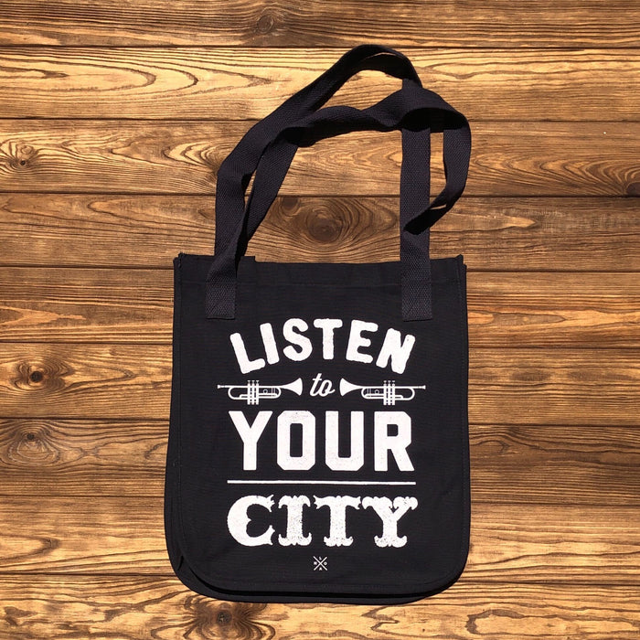 Listen To Your City Tote - Dirty Coast Press
