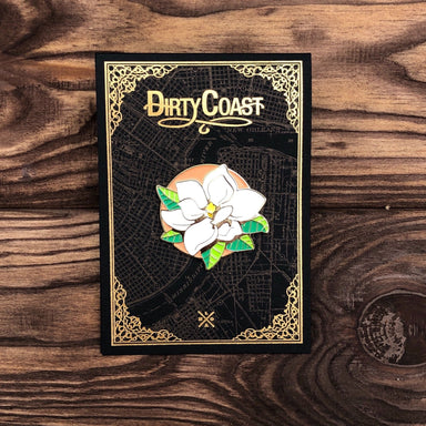 Magnolia Enamel Pin - Dirty Coast Press