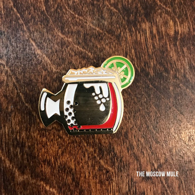 Moscow Mule Enamel Pin - Dirty Coast Press