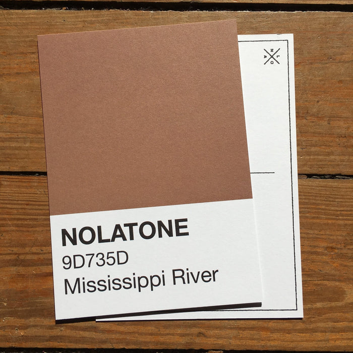 Nolatones Postcard - Mississippi River - Dirty Coast Press