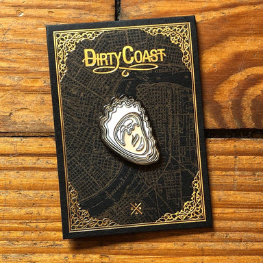 Oyster Enamel Pin - Dirty Coast Press