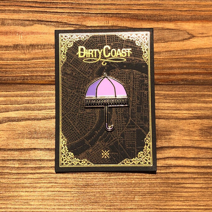 Parasol Enamel Pin - Dirty Coast Press