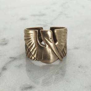 Petite Pelican Cuff Ring - Dirty Coast Press