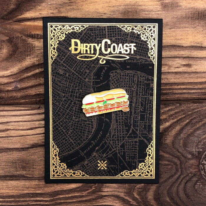 Poboy Enamel Pin - Dirty Coast Press