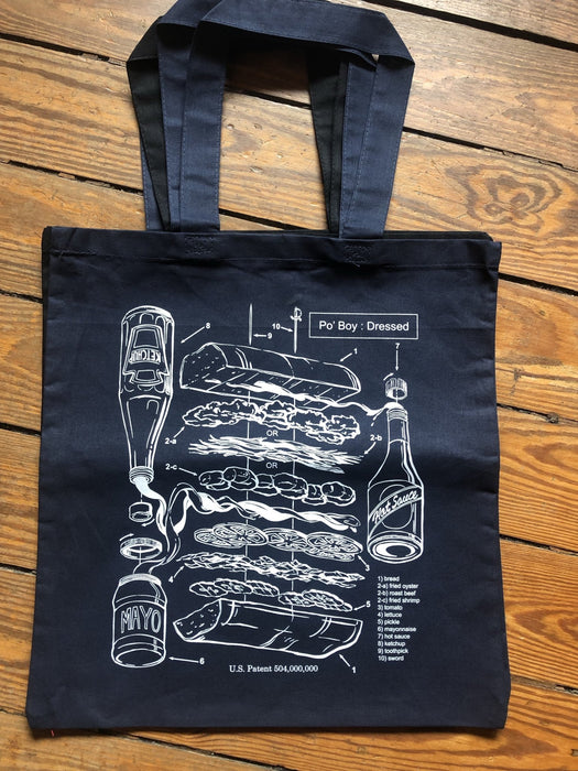 PoBoy Patent Grocery Store Tote - Dirty Coast Press