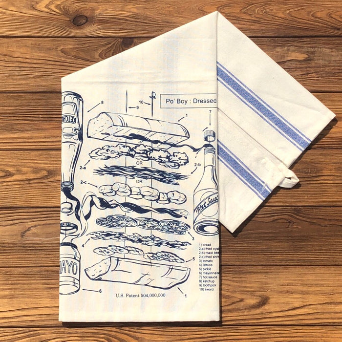 Po'Boy Patent Tea Towel - Dirty Coast Press