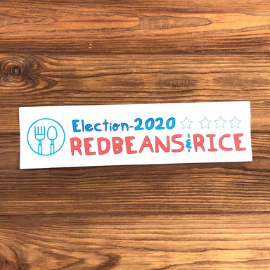 Red Beans & Rice 2020 Bumper Sticker - Dirty Coast Press