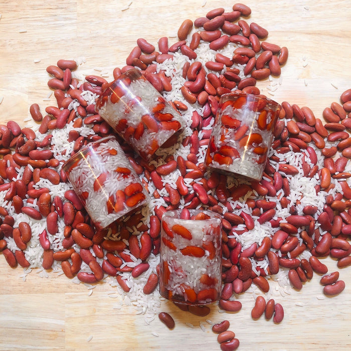 Red Beans & Rice Shot Glass - Dirty Coast Press