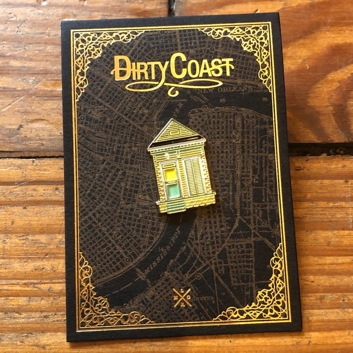 Shotgun House Enamel Pin - Dirty Coast Press