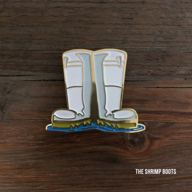 Shrimp Boots Enamel Pin - Dirty Coast Press