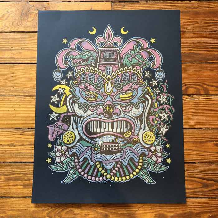 The Nola Mask Print - Dirty Coast Press