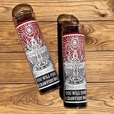 You Will Find A Crawfish Boil Prayer Candle - Dirty Coast Press