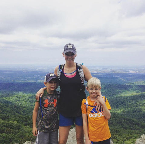family at Humpback Rock