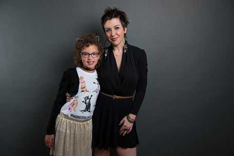 Mahri Jones owner of Parlor Salon and her daughter