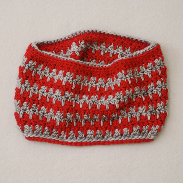 Candy Striper Crochet Cowl