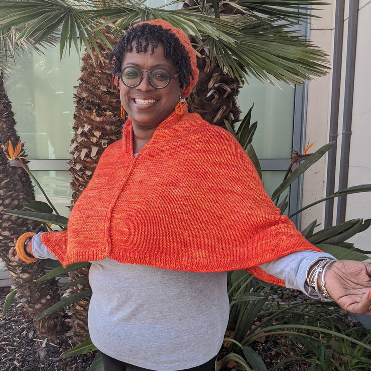 Orange Love Poncho