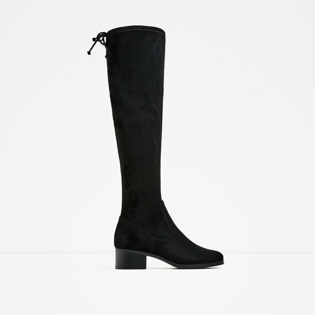 Zara: Flat Over the Knee Boots
