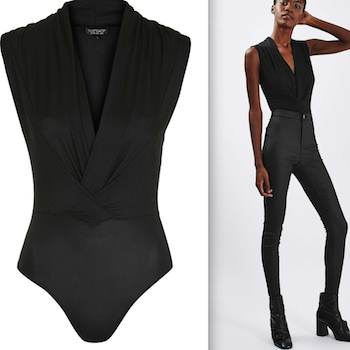 TopShop: Drape Neck Body Suit