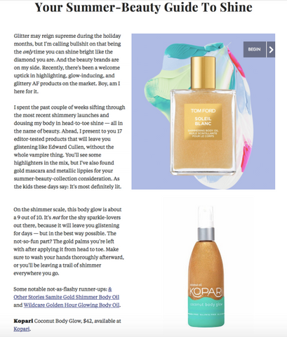 Refinery29 - Your Summer-Beauty Guide to Shine