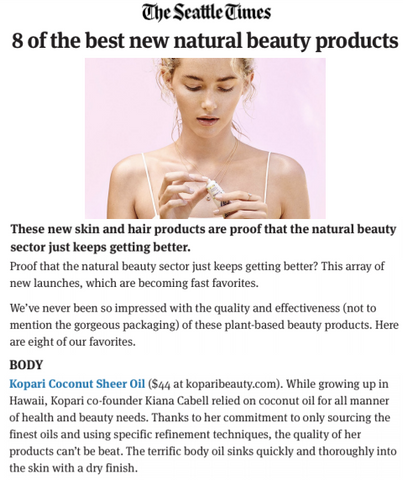 The Seattle Times Kopari Press - 8 of the best new natural beauty products
