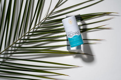beach scented deo on palm branch