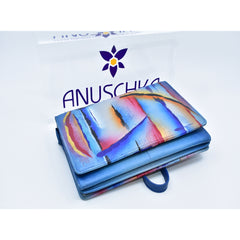 Anuschka hand painted leather wallet 手绘牛皮钱包