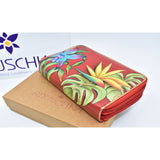 anuschaka hand painted leather wallet 手绘牛皮钱包