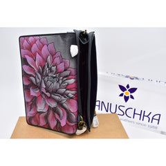 Anuschka hand painted leather wallet 手绘牛皮钱包(sold)