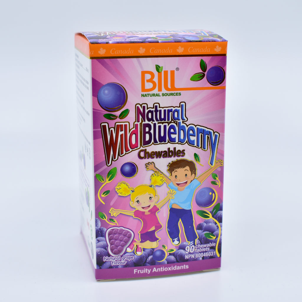 Natural Wild Blueberry 90 Chewable Tablets 野生蓝莓咀嚼片