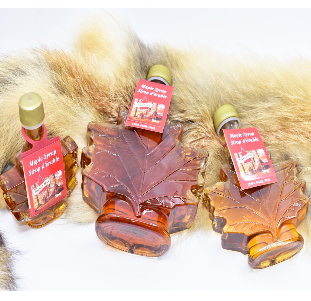 Maple syrup with maple leaf glass bottle 50ml 枫糖浆50ml