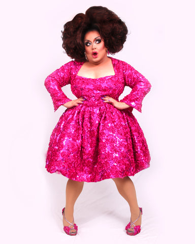 Ginger Minj Pink Sequined Gown Poster - UNSIGNED