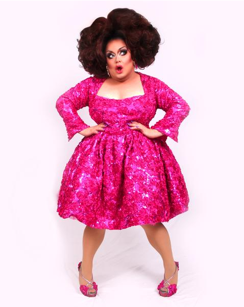 Ginger Minj Pink Sequined Gown Poster - SIGNED