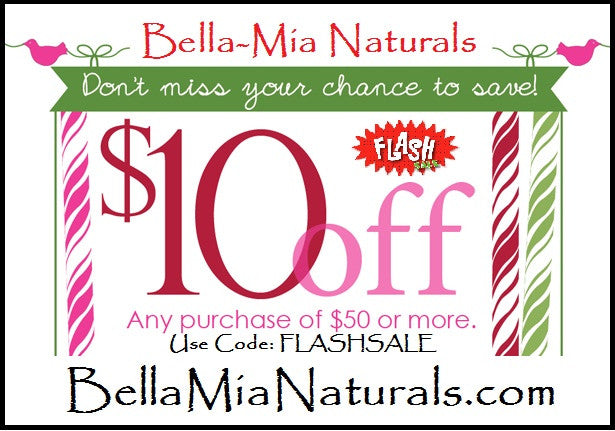 Fall Flash Sale!! Save $10 Off $50