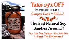 Take 15% OFF your order of $50 or more on soy candles