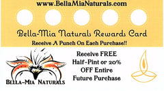 Bella-Mia Naturals Customer Rewards Card