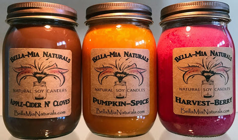 Falll-Harvest Natural Soy Candle Collection