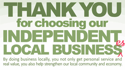 Shop small and support a local business.