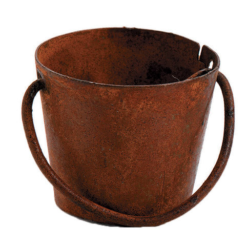Metal Pail - Rusted - 5/8 inch