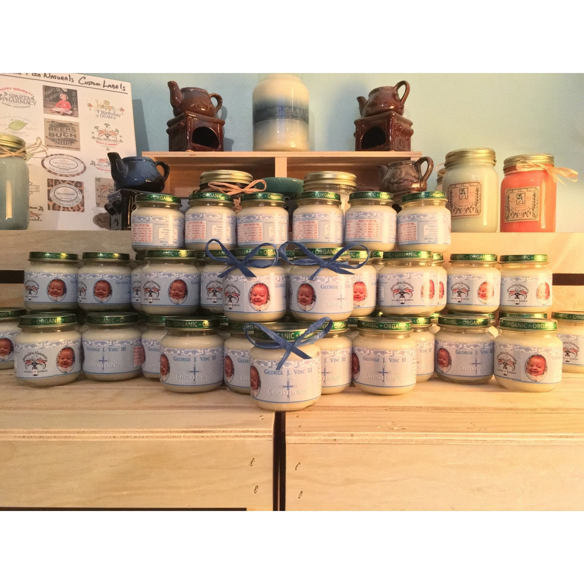 4oz. Baby Food Jar Soy Candles with Custom Labels -  - Bella-Mia Naturals All Natural Soy Candles & Lip Balms - 14