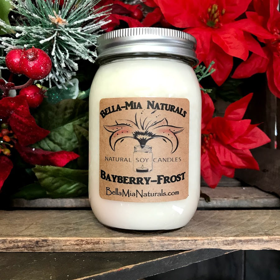 Bayberry-Frost Natural Hand Poured Soy Candles