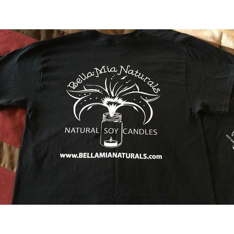 Bella-Mia Naturals Logo T-Shirt -  - Bella-Mia Naturals All Natural Soy Candles & Lip Balms - 3