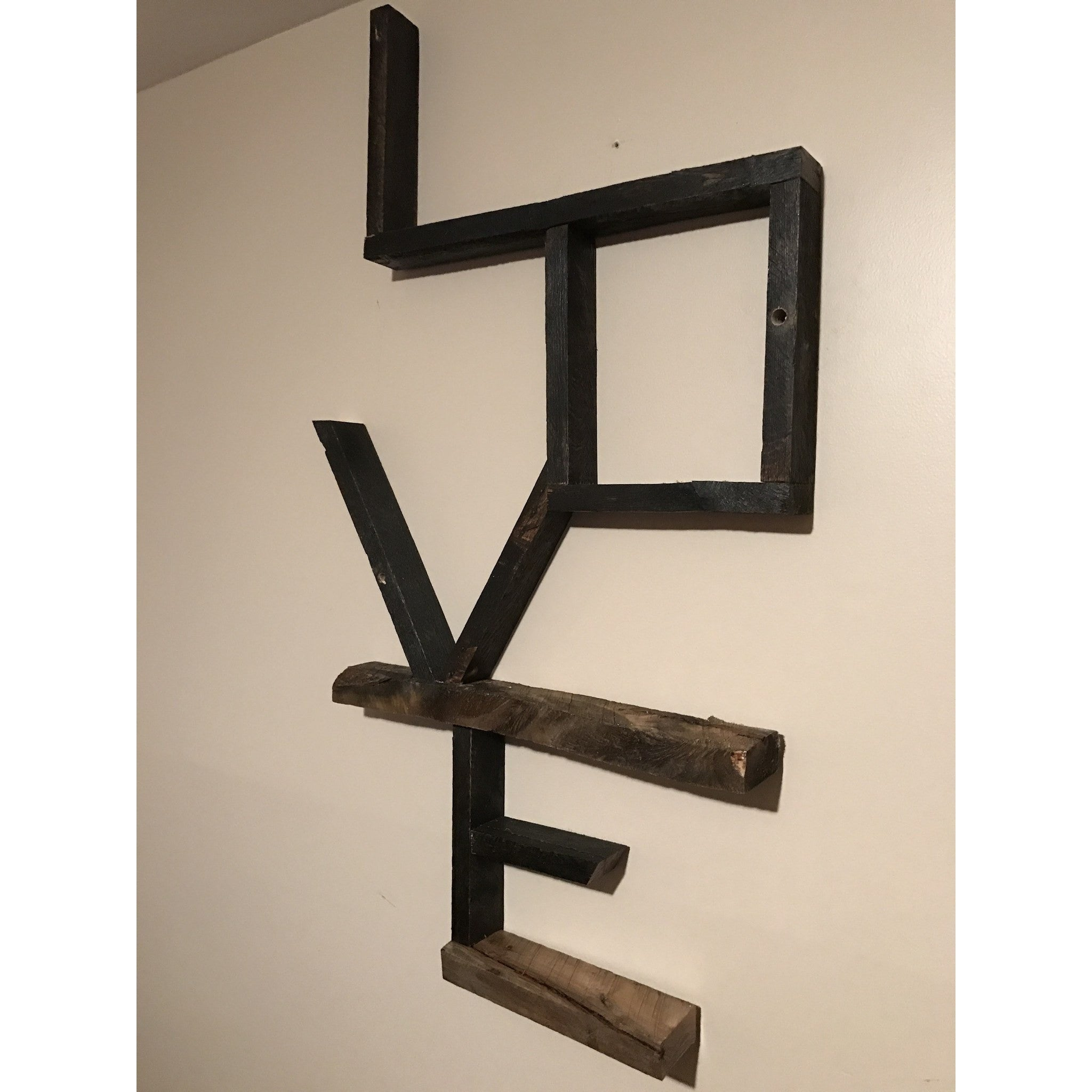 "Custom Reclaimed Wood ""LOVE"" Signs -  - Bella-Mia Naturals All Natural Soy Candles & Lip Balms - 5"