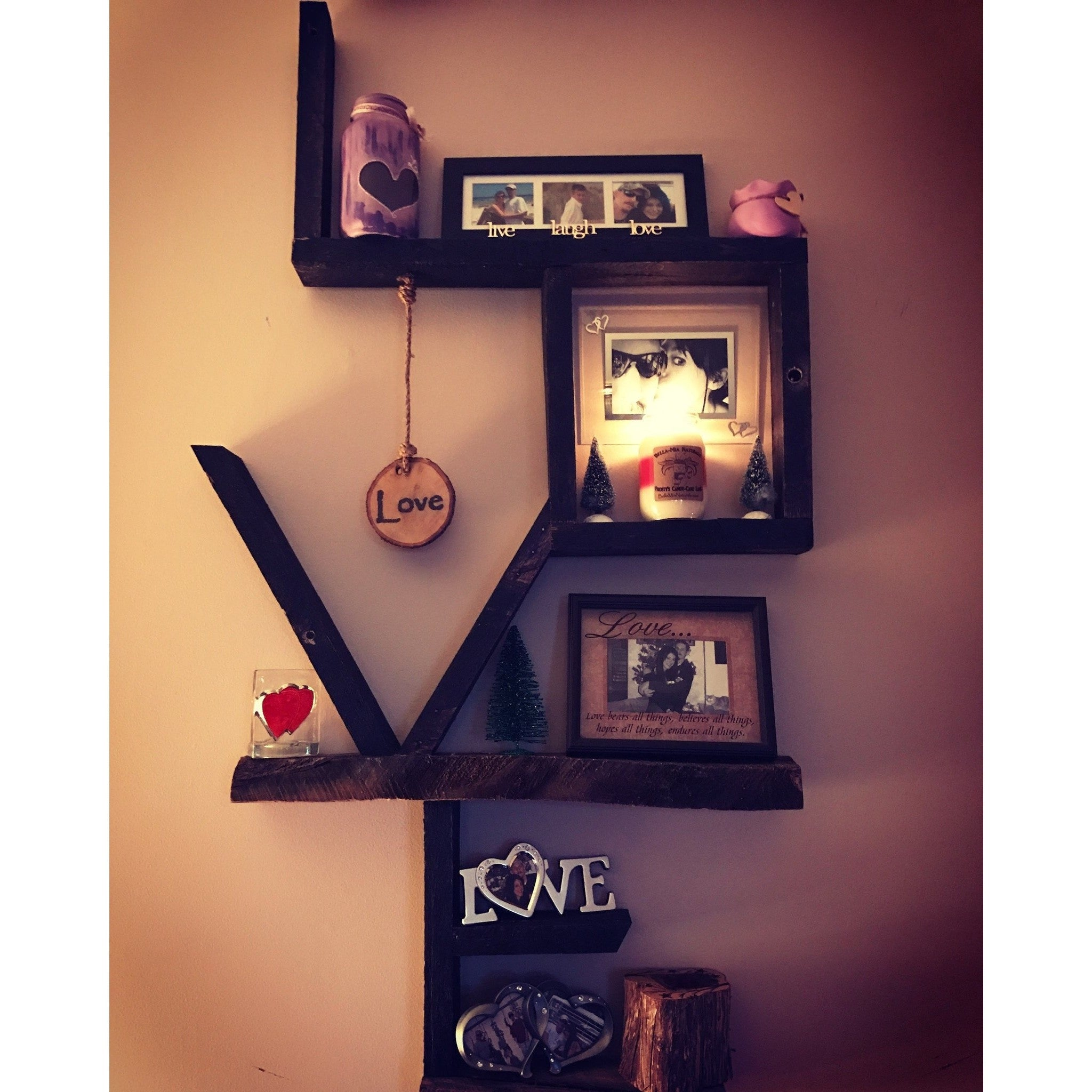 "Custom Reclaimed Wood ""LOVE"" Signs -  - Bella-Mia Naturals All Natural Soy Candles & Lip Balms - 2"