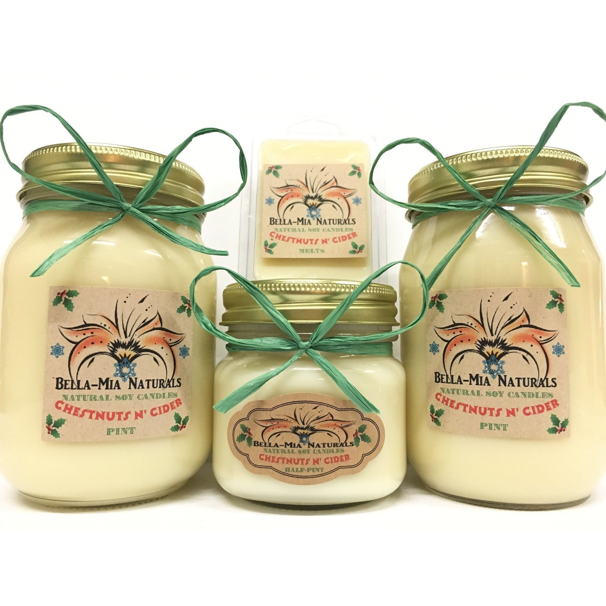 Chestnuts N' Cider Natural Hand Poured Soy Candles -  - Bella-Mia Naturals All Natural Soy Candles & Lip Balms - 4