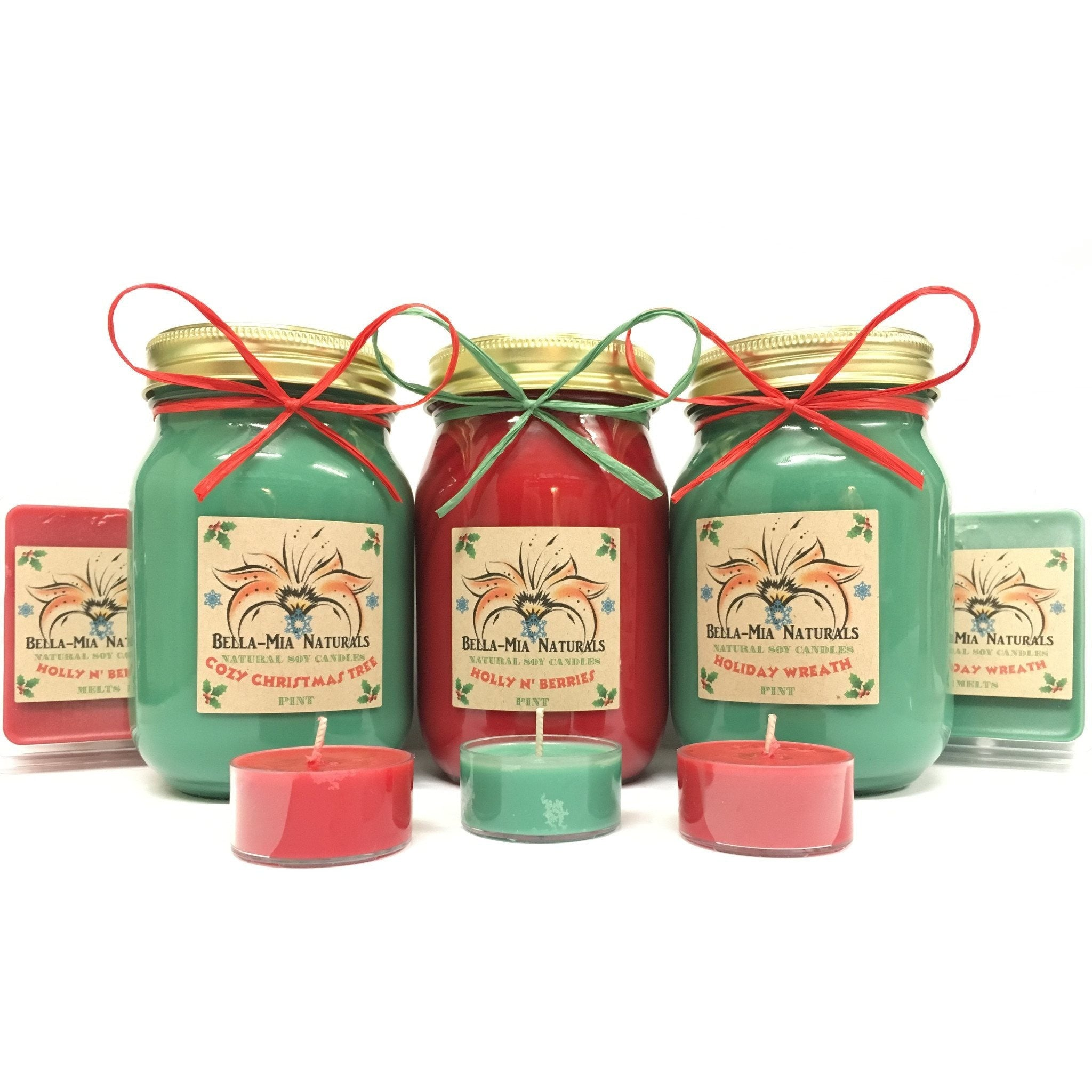 Cozy Christmas Tree Natural Hand Poured Soy Candles -  - Bella-Mia Naturals All Natural Soy Candles & Lip Balms - 4